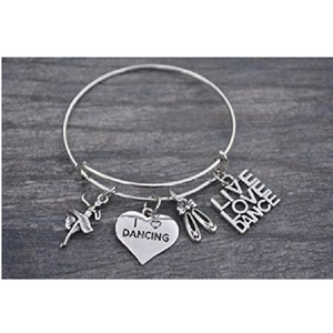 Live Love Dance Bangle Bracelet - Infinity Collection