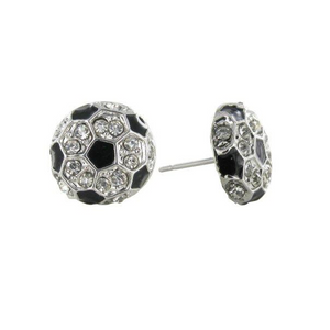 Soccer Ball Rhinestone Earrings - Infinity Collection