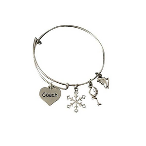 Figure Skating Coach Bangle Bracelet - Infinity Collection