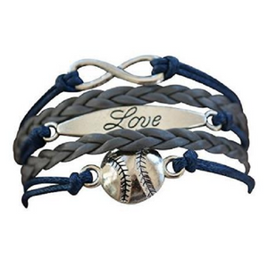 Softball Love Bracelet-Navy - Infinity Collection