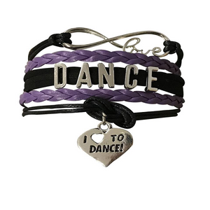 Dance Bracelet- Girls - Purple & Black - Infinity Collection