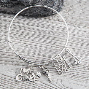 Golf Charm Bangle Bracelet - Infinity Collection