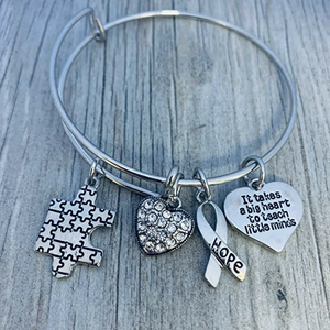 Autism Teacher Bracelet - Big Heart to Teach Little Minds