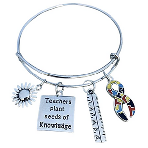 Autism Teacher Bracelet - Teachers Plant Seeds of Knowledge
