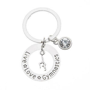 Live Love Gymnastics Keychain - Infinity Collection