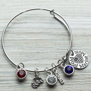 Marine Mom Bangle - Infinity Collection