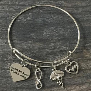 Nurse Are Angels Without Wings Bracelet - Infinity Collection
