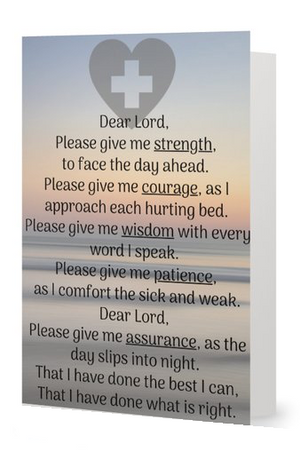 Nurse Card-  Nurse Prayer - Infinity Collection