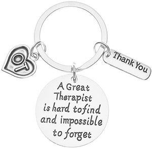 Occupational Therapy Keychain - Occupational Therapy Jewelry - Perfect Gifts for Occupational Therapists, A Great Therapist is Hard to Find but Impossible to Forget - Infinity Collection