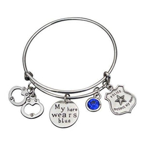 Police Bracelet- My Hero Wears Blue - Infinity Collection