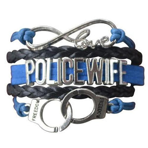 Police Wife Bracelet- Handcuffs - Infinity Collection