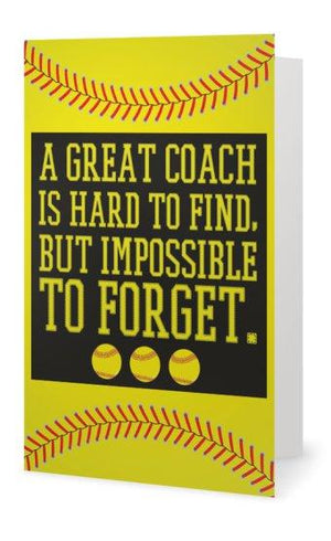 Softball Coach Card - Infinity Collection