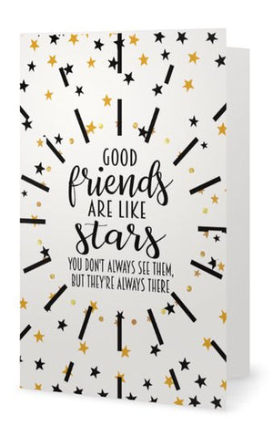 Friend Card - Good Friends Are Like Stars