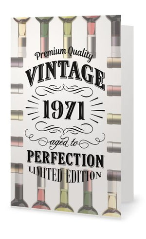 50th Birthday Card - Vintage 1971 Aged to Perfection