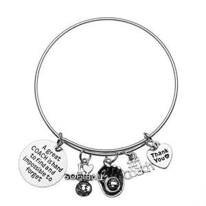 Softball Great Coach Is Hard to Find Bracelet - Infinity Collection