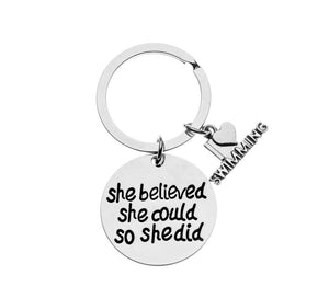 Swim She Believed She Could So She Did Keychain - Infinity Collection