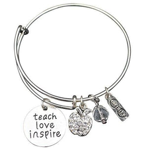 Teacher Love Inspire Bangle Bracelet - Infinity Collection