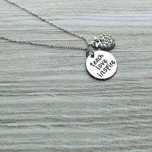 Teacher Love Inspire Necklace - Infinity Collection