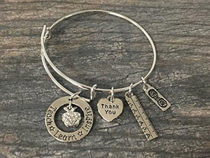 Teach Love Inspire Bangle Bracelet - Infinity Collection