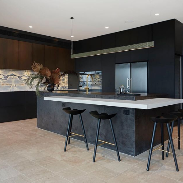 Polished Concrete Kitchen Benches