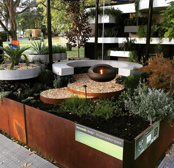 Melbourne International Flower and Garden Show - Polished Concrete Benches