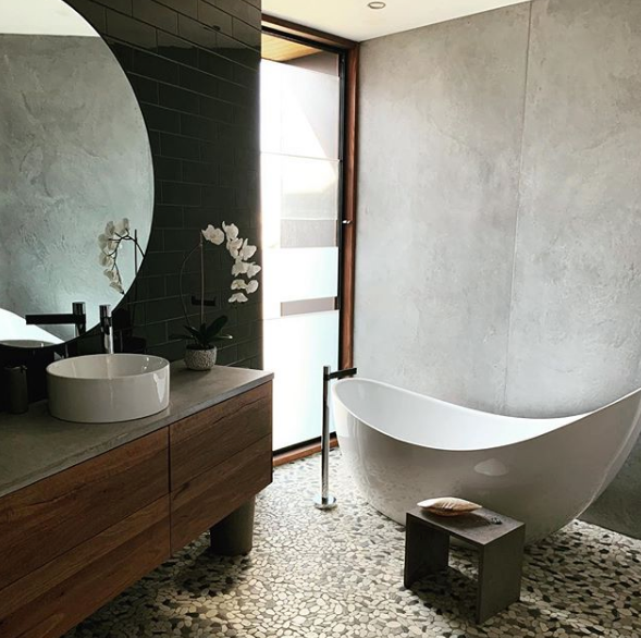 Polished Concrete Basins and Vanities