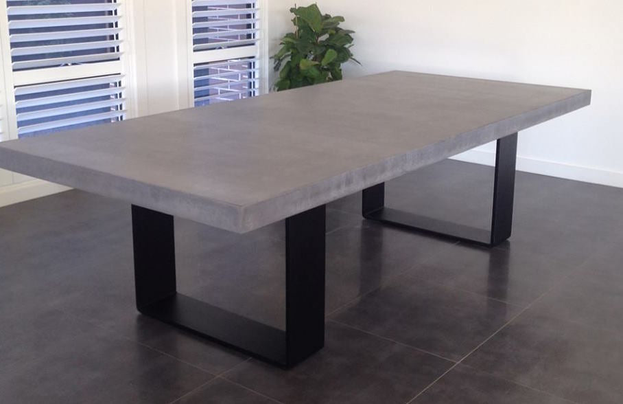 Custom Polished Concrete Tables