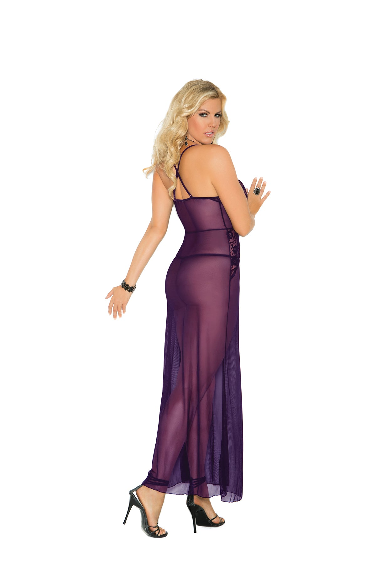 Mesh Night Gown-comes in plus size