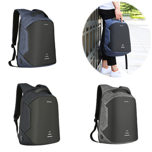 Men's Waterproof Charging Backpack Business Satchel Bag Large Capacity Laptop Backpack with USB Charging Port for Outing