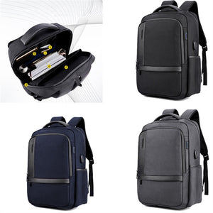Men's Business Charging Backpack  Waterproof Satchel Bag Large Capacity Laptop Backpack with USB Charging Port