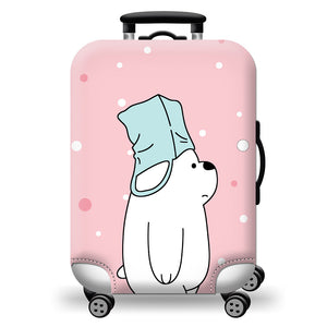 Colorful Washable Travel Luggage Protector Luggage Suitcase Cover Fit 18-28 Inch Bright and Cute Luggage Cover