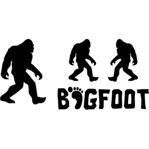 16CM*7.7CM Set 4 Bigfoot Yeti Sasquatch Car Stickers And Decals Motorcycle Car Styling Accessories Black Sliver C8-0363