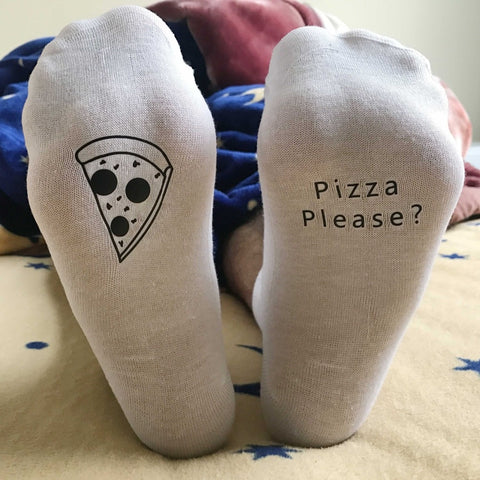 East Knitting ST11 Pizza Pleas Funny Unisex Christmas Socks Cotton Women And Man Pizza Socks