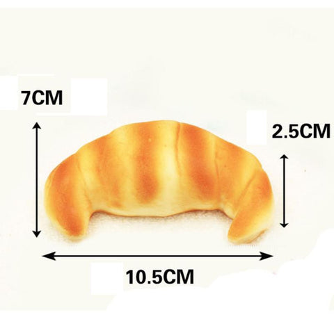 PU simulation bread Kitchen toy Squeeze Elasticity Squishy Slow Rising Cream Scented Croissant Decompression Toy Educational