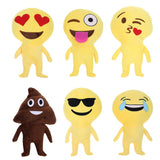 Emoji Pillows Dolls Funny Dung Toy Soft Plush QQ Expression Decorative Cushion Dolls Kids Toy Christmas Home Decor Sofa Bed