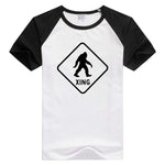 Bigfoot Sasquatch Crossing short sleeve casual Men/Women T-shirt Comfortable Tshirt Cool Print Tops Novelty tee funny GA260