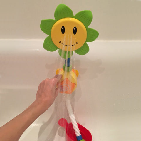 Baby Bath Toys Children Sunflower Spray Water Shower Faucet Kids Bath Toy with Box Bathroom Toys Random Color