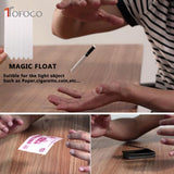 TOFOCO New 1Pcs Elastic Stretch Invisible Hidden Coil Thread Loops Haunted Magic Trick Float Joke Prank Trick Fun Toy Novelty