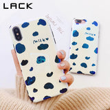 LACK Milk Print Phone Case For iphone X Case For iphone 6 6S 7 8 Plus Retro Blu-ray Cartoon Back Cover Fashion Stripe Cases Capa