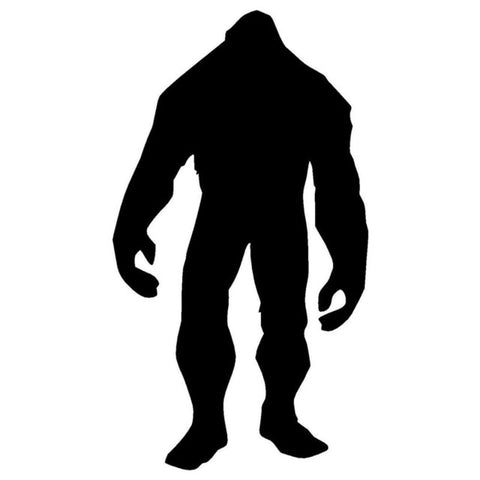 9.5cm*17.2cm Bigfoot Creative Car Styling Car Sticker Motorcycle Vinyl Black/Silver S3-5419