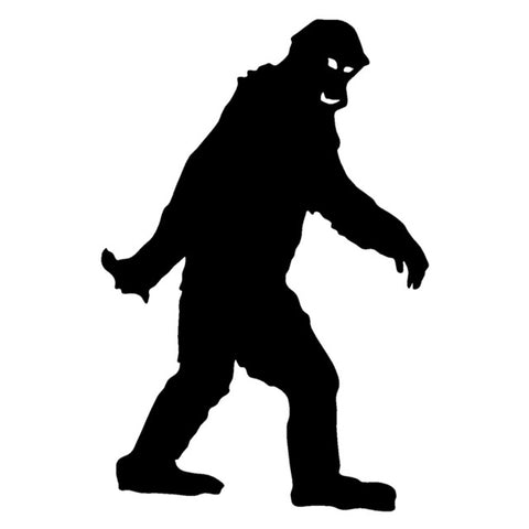 11.3cm*17cm Bigfoot Vinyl Car Accessories Stickers Fashion Decal Black/Silver S3-5422