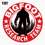 YJZT 13.5CM*13.5CM Car Sticker BIGFOOT RESARCH TEAM Personality Reflective The Tail Of The Car Decal C1-7687