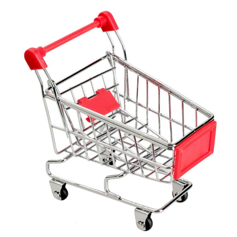 6Colors Baby Kids Simulation Mini Shopping Cart Toys Supermarket Folding Trolley Handcart Funny Toys Kids Toys Storage Basket