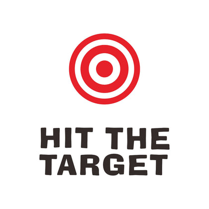 Hit The Target Funny Toilet Sign Bathroom Wall Decals Stickers for Home Office Cafe Hotel