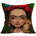 Pillow Case Beautiful Women Pillow Cover Cotton Linen Polyester Pillow Case Home Supplies