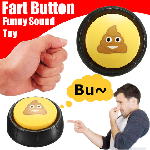 Yellow Black Plastic Talking Button Fart Funny Sound Gag Toy Gift Home Party