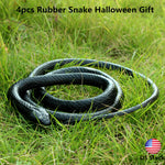 2/4pcs Rubber Toy Fake Snake Safari Garden Prop Joke Prank Halloween Gift 51''