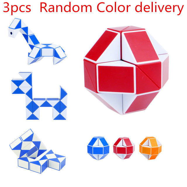 Cool Snake Magic Variety Popular Twist Kids Game Transformable Gift Puzzle Educational Toys Magic Cubes
