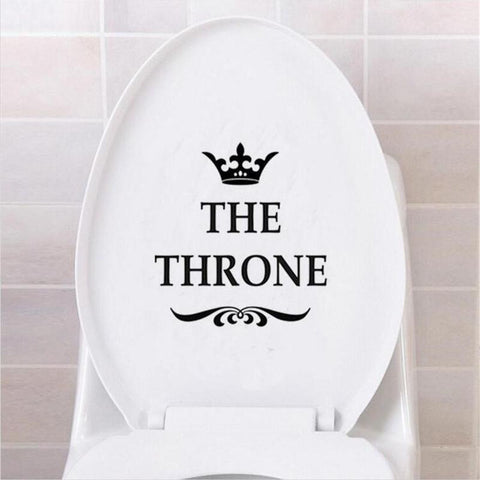 Funny Interesting Toilet Wall Stickers Bathroom Decoration Accessories Home Decor