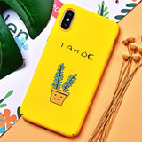 TOMKAS BAD BOY Phone Case for iPhone XS X XS Max XR Case Yellow Cover Funny Banana Cute Cases for iPhone 7 8 6 S 6S Plus Coque